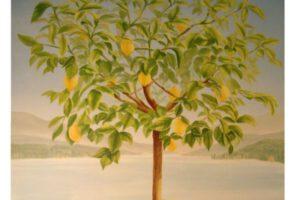 Gemälde Zitronenbaum