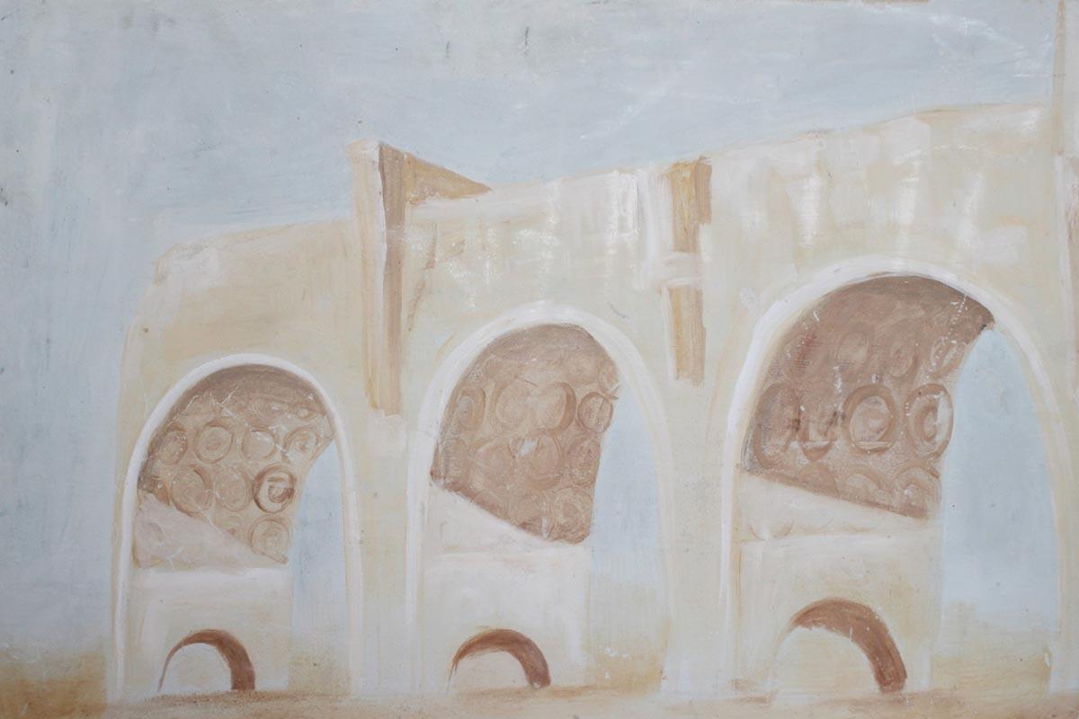 Wohnraum: Stilisierte Torbögen in Rom