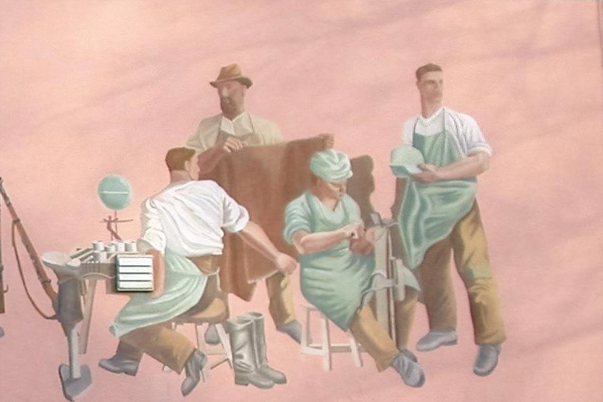 Hausfassade: Restauriertes Gemälde