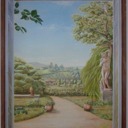 Toskana.  Acryl auf Leinwand, 120 cm x 80 cm.    -SOLD -