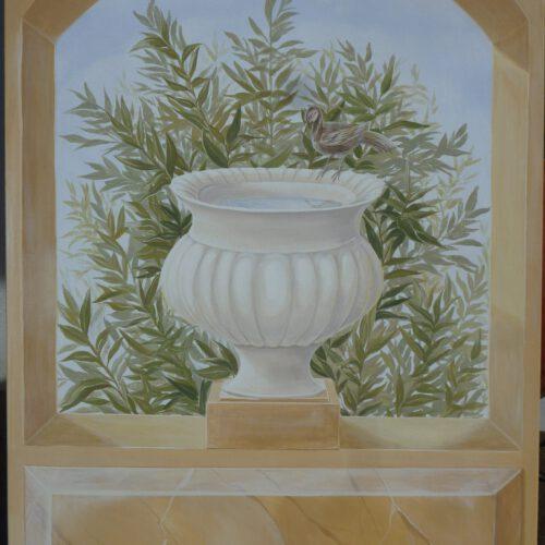Pompeji II. Fresko auf Leinwand. 120x80cm. 420 €.